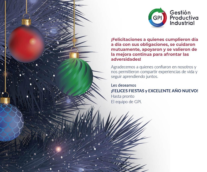 feliz navidad gestión productiva industrial